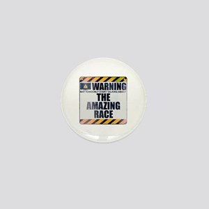 Warning: The Amazing Race Mini Button